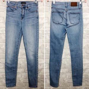 "J.CREW/JEANS 9"" High-Rise Toothpick Denim Jeans 26"